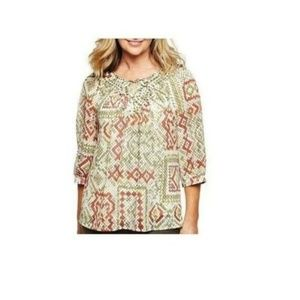 Alfred Dunner Python Print Tunic Tops 16W  NEW